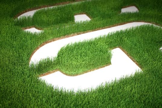 Firmen Logo aus Gras