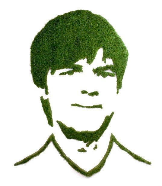 Portrait von Jogi Löw aus Gras