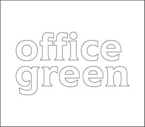 office green Schriftzug contour