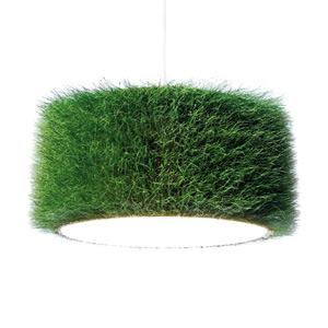 Hängelampe aus Gras