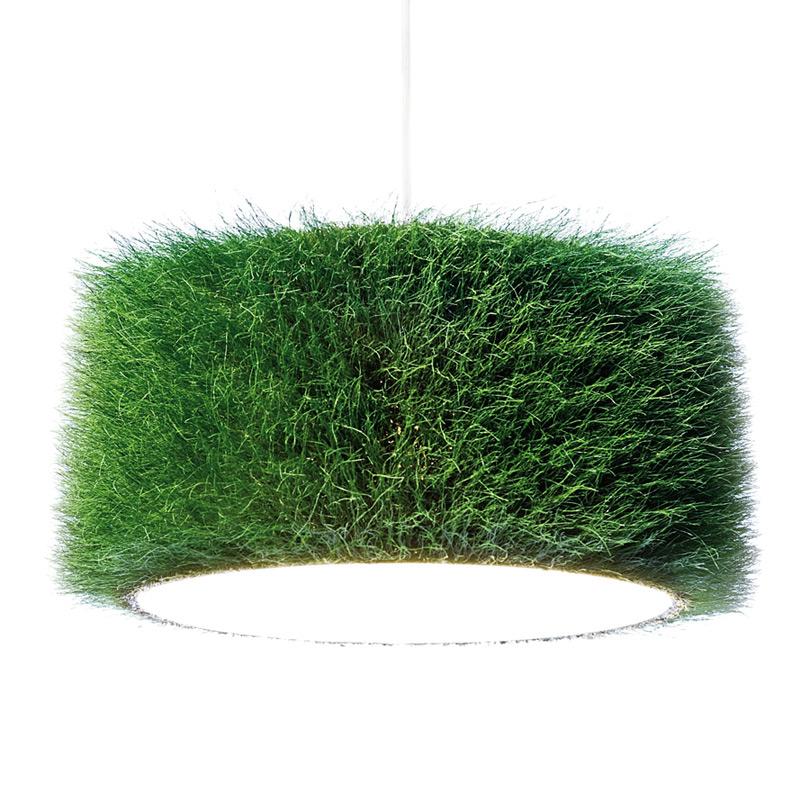 Hängelampe aus echtem Gras
