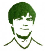 Grass portrait of Jogi Löw by grassland