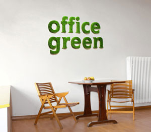 office green visualisierung an der Wand