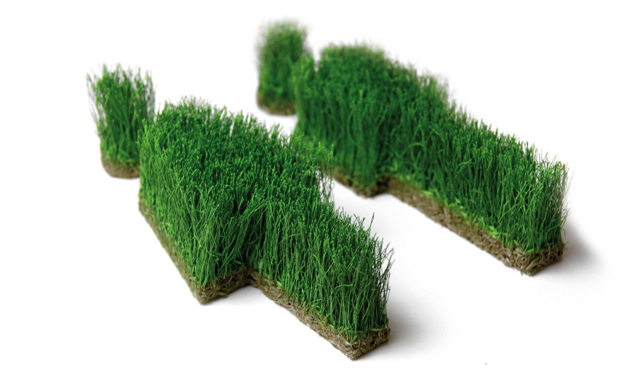 WC Männchen aus Gras