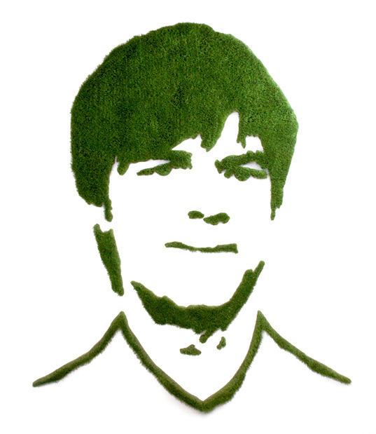 Grass portrait of Joachim Löw