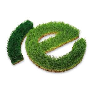 Schrift aus Gras